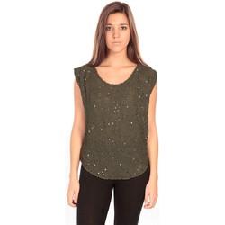 textil Mujer Tops / Blusas Charlie Joe Top Pearl Vert Verde