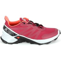 Zapatos Senderismo Salomon Supercross Cerise Rojo