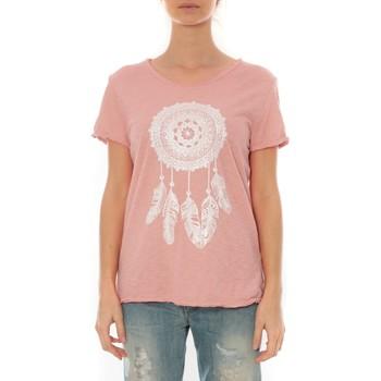 textil Mujer Camisetas manga corta By La Vitrine Tee Shirt Anthracite Cake V Rose Pale Rosa