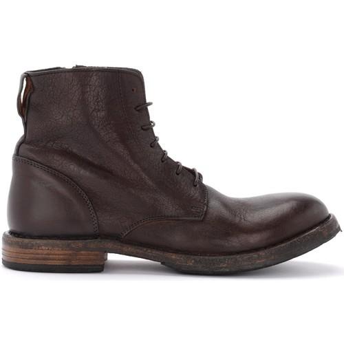 Moma Botín Cusna de piel cabeza de moro con cremallera lateral Negro - Zapatos Botas de caña baja Hombre