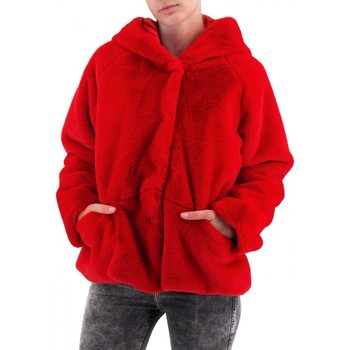 textil Mujer Abrigos Amami | Piel con capucha corta | AMI_PEL3340DRO rouge