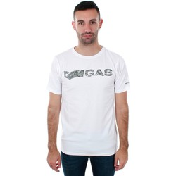 textil Hombre Camisetas manga corta Gas GATS01 JUNGLE T-SHIRT AB30 WHITE JUNGLE Blanco