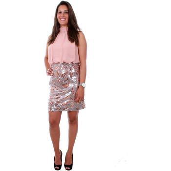 textil Mujer Vestidos cortos Vero Moda 10213824 VMELLE SL HIGHNECK SHORT DRESS WVN MISTY ROSE Rosa
