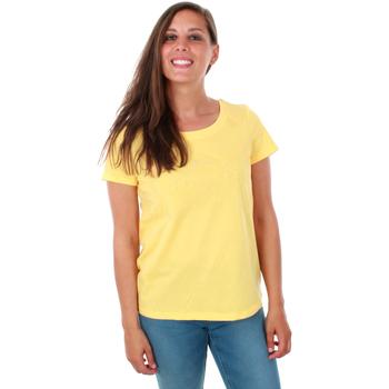 textil Mujer Tops / Blusas Vero Moda 10212589 VMRAINER DIANA SS TOP JRS YARROW Amarillo