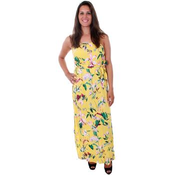 textil Mujer Vestidos largos Vero Moda 10211487 VMSIMPLY EASY SLIM SLIT MAXI DRESS YARROW TRILLE Amarillo