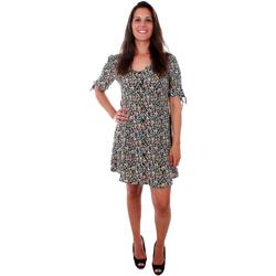 textil Mujer Vestidos cortos Vero Moda 10211516 VMSIMPLY EASY SS BUTTON SHORT DRESS BLACK KAREN Azul marino