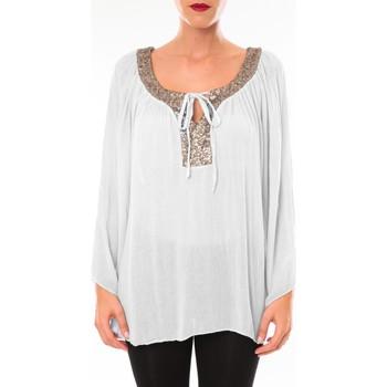 textil Mujer Túnicas Tcqb Tunique TDI paillettes Blanc Blanco