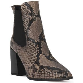 Zapatos Mujer Botines Café Noir CAFE NOIR  TRONCHETTO PITONE Nero
