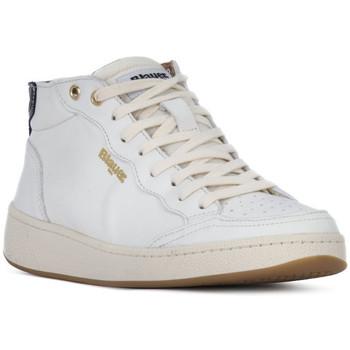 Zapatos Mujer Zapatillas altas Blauer OLYMPIA Bianco