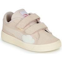 Zapatos Niña Zapatillas bajas Puma SUEDE Rosa