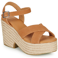 Zapatos Mujer Sandalias Superdry HIGH ESPADRILLE SANDAL Cognac