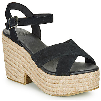 Zapatos Mujer Sandalias Superdry HIGH ESPADRILLE SANDAL Negro