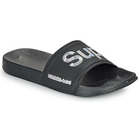 Zapatos Mujer Chanclas Superdry HOLO INFIL POOL SLIDE Negro