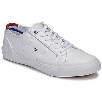 Zapatos Hombre Zapatillas bajas Tommy Hilfiger CORE CORPORATE FLAG SNEAKER Blanco