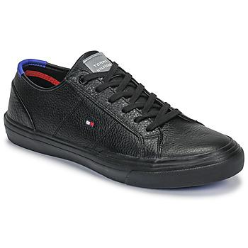 Zapatos Hombre Zapatillas bajas Tommy Hilfiger CORE CORPORATE FLAG SNEAKER Negro
