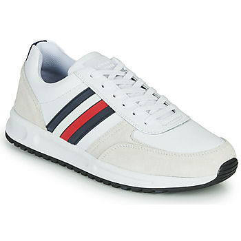 Zapatos Hombre Zapatillas bajas Tommy Hilfiger MODERN CORPORATE LEATHER RUNNER Blanco