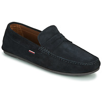 Zapatos Hombre Mocasín Tommy Hilfiger CLASSIC SUEDE PENNY LOAFER Azul