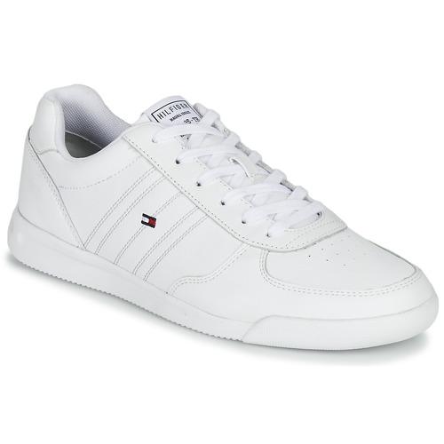 Zapatos Hombre Zapatillas bajas Tommy Hilfiger LIGHTWEIGHT LEATHER SNEAKER Blanco