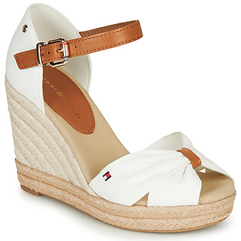 Zapatos Mujer Sandalias Tommy Hilfiger BASIC OPENED TOE HIGH WEDGE Blanco