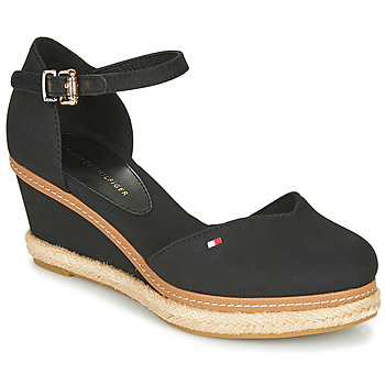 Zapatos Mujer Sandalias Tommy Hilfiger BASIC CLOSED TOE MID WEDGE Negro