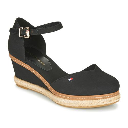 Zapatos Mujer Sandalias Tommy Hilfiger BASIC CLOSED TOE MID WEDGE Negro