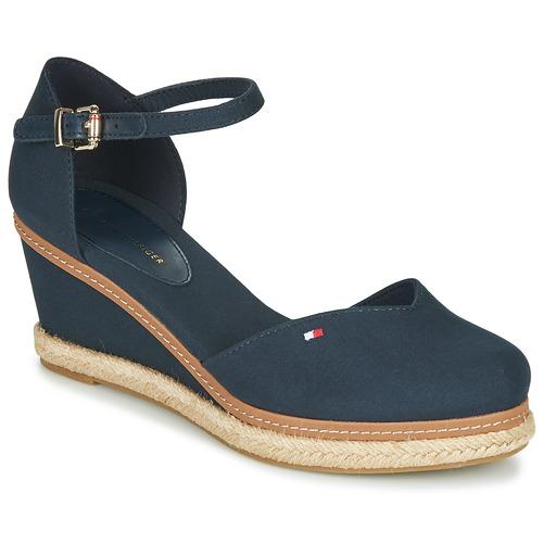 Zapatos Mujer Sandalias Tommy Hilfiger BASIC CLOSED TOE MID WEDGE Azul