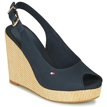 Zapatos Mujer Sandalias Tommy Hilfiger ICONIC ELENA SLING BACK WEDGE Azul