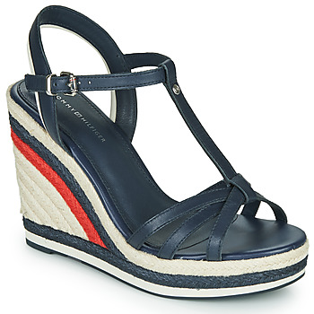 Zapatos Mujer Sandalias Tommy Hilfiger TOMMY STRAPPY HIGH WEDGE Azul