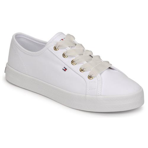 Zapatos Mujer Zapatillas bajas Tommy Hilfiger ESSENTIAL NAUTICAL SNEAKER Blanco
