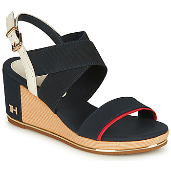 Zapatos Mujer Sandalias Tommy Hilfiger TH HARDWARE BASIC MID WEDGE Azul
