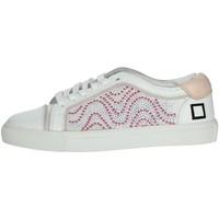 Zapatos Mujer Zapatillas bajas Date E20-6 Blanco/Rosa