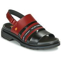Zapatos Mujer Sandalias Art BIRMINGHAM Burdeo / Negro