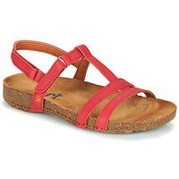 Zapatos Mujer Sandalias Art I BREATHE Rojo