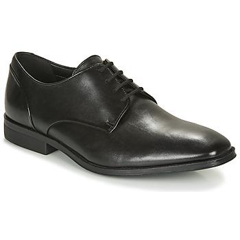 Zapatos Hombre Derbie Clarks GILMAN PLAIN Negro