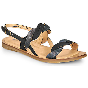 Zapatos Mujer Sandalias El Naturalista TULIP Negro / Plata