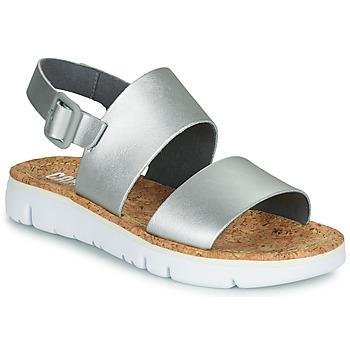 Zapatos Mujer Sandalias Camper ORUGA Plateado