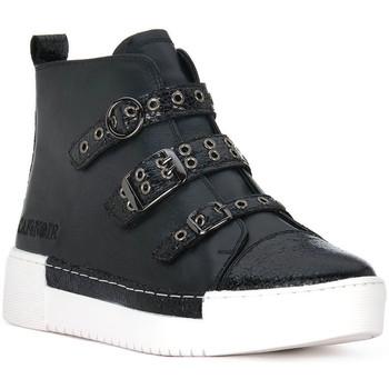 Zapatos Mujer Zapatillas altas Café Noir CAFE NOIR  SNEAKER MULTIFIBBIE Nero