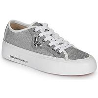 Zapatos Mujer Zapatillas bajas Emporio Armani X3X109-XL487 Plata
