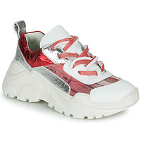 Zapatos Mujer Zapatillas bajas Fru.it CARETTE Blanco / Rojo / Plata