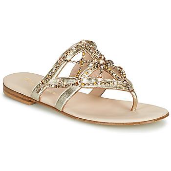 Zapatos Mujer Chanclas Fru.it CAROTE Oro
