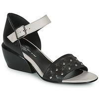 Zapatos Mujer Sandalias Fru.it LEMMINE Negro / Blanco