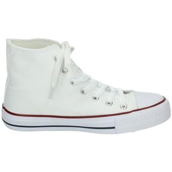 Zapatos Mujer Zapatillas altas Demax Botines lona blancos Blanco