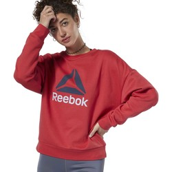 textil Mujer sudaderas Reebok Sport Jersey Workout Ready Big Logo Cover-Up rouge