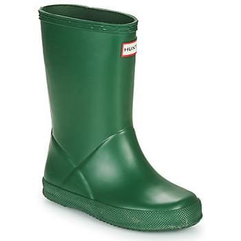 Zapatos Niños Botas de agua Hunter KIDS FIRST CLASSIC Verde