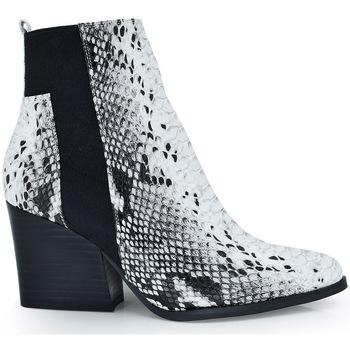 Zapatos Mujer Botas de caña baja Exé Shoes BOTINES SNAKE LATERAL ELÁSTICO RAMONA-522 Color Estampado