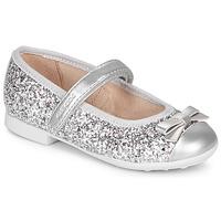 Zapatos Niña Bailarinas-manoletinas Geox JR PLIE' Plata