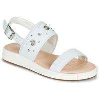 Zapatos Niña Sandalias Geox J SANDAL REBECCA GIR Blanco