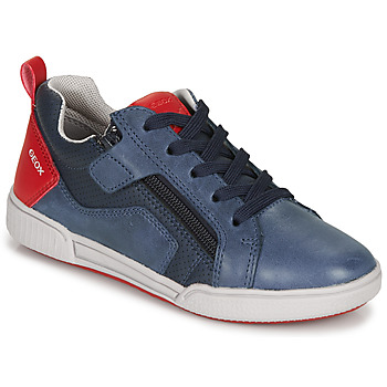 Zapatos Niño Zapatillas bajas Geox J POSEIDO BOY Marino / Rojo