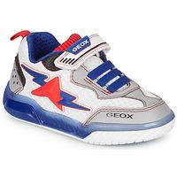 Zapatos Niño Zapatillas bajas Geox J INEK BOY Blanco / Azul / Rojo