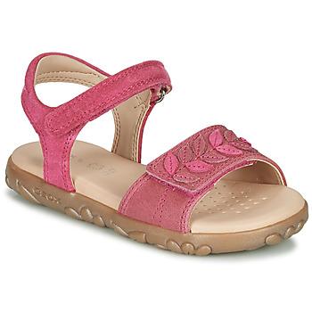 Zapatos Niña Sandalias Geox J SANDAL HAITI GIRL Fucsia